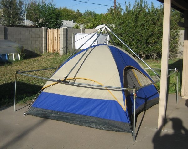 frame over dome tent