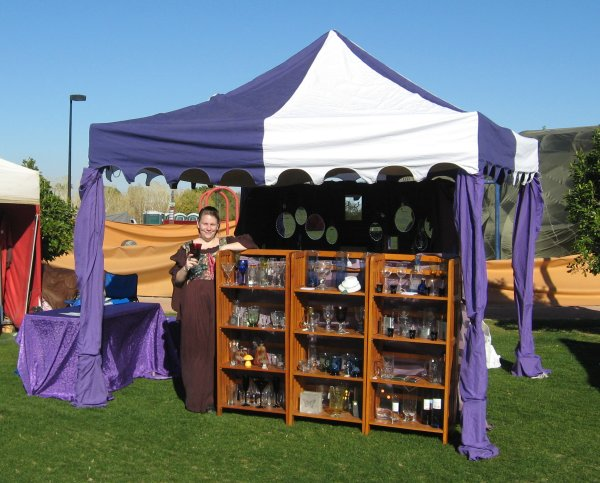 Get medieval on your pop up for Used craft fair tents